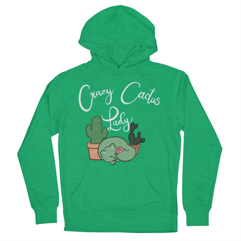 Crazy Cactus Lasy Men's French Terry Pullover Hoody by AnimeGravy
