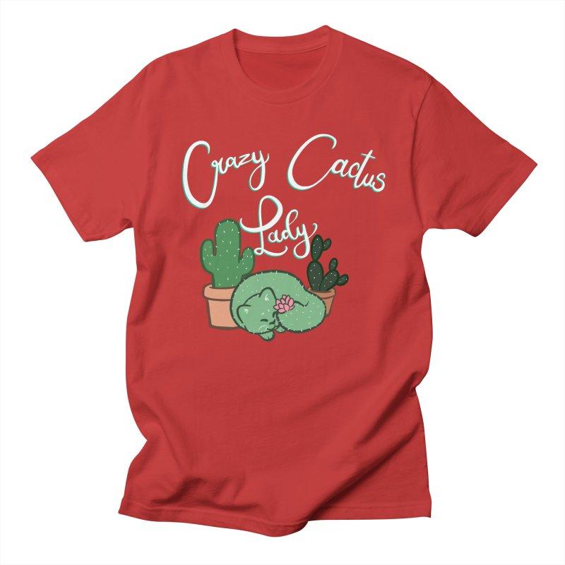 Crazy Cactus Lasy Men's Regular T-Shirt by AnimeGravy