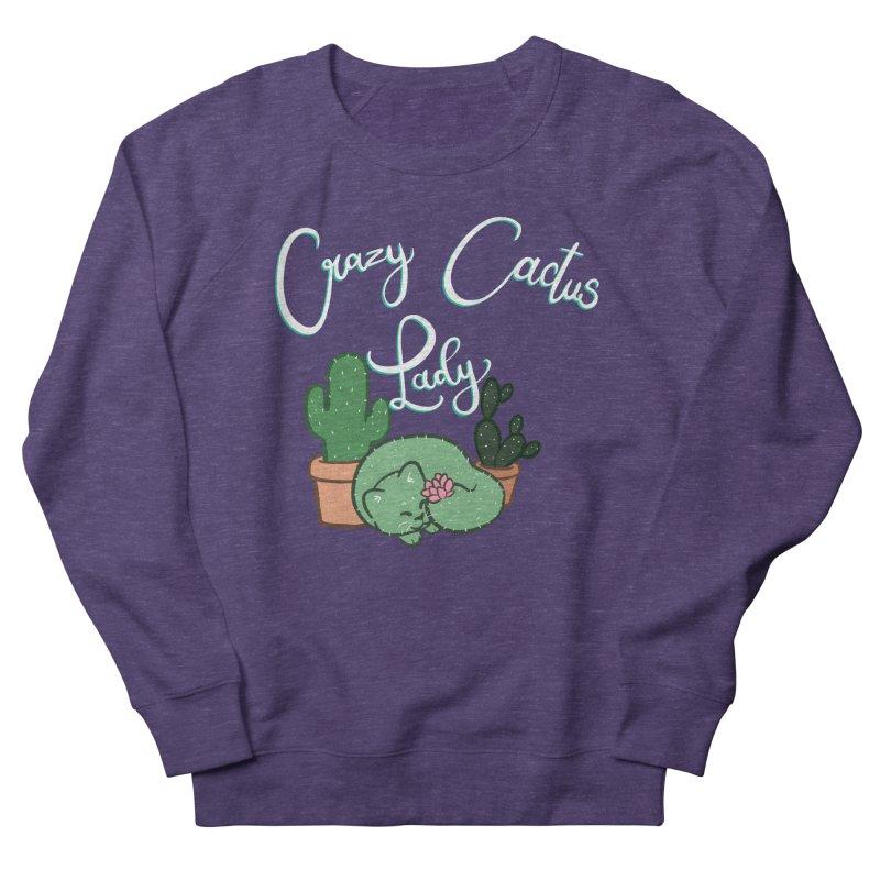 Crazy Cactus Lasy Men's French Terry Sweatshirt by AnimeGravy