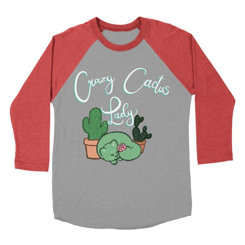 Crazy Cactus Lasy Men's Baseball Triblend Longsleeve T-Shirt by AnimeGravy