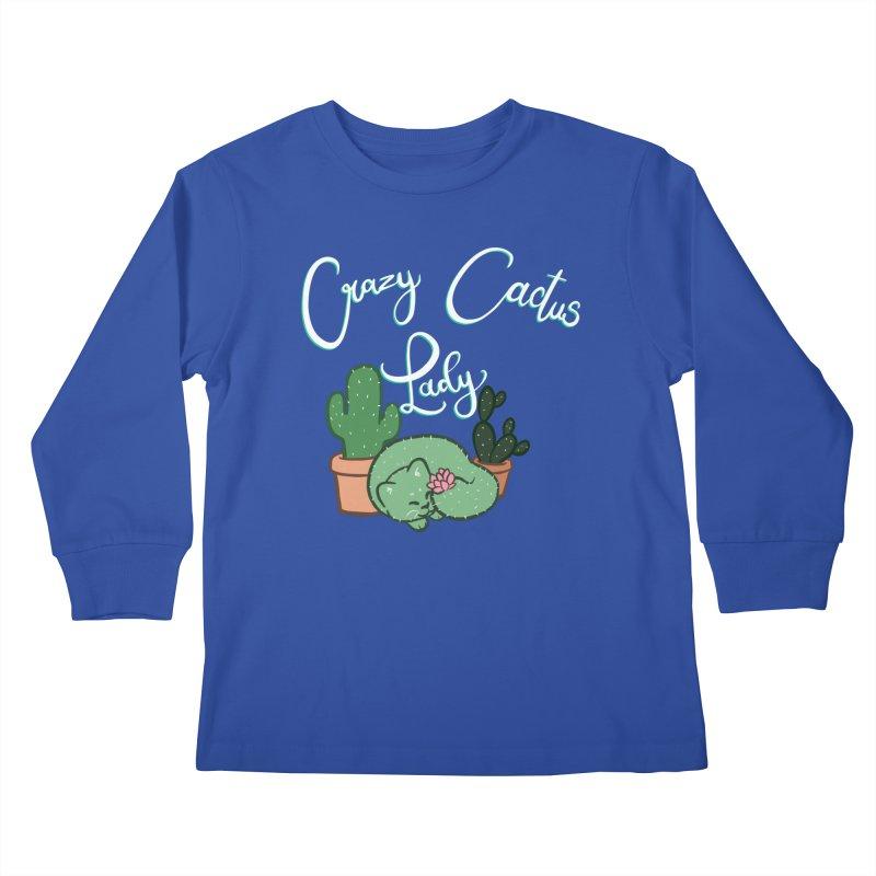 Crazy Cactus Lasy Kids Longsleeve T-Shirt by AnimeGravy