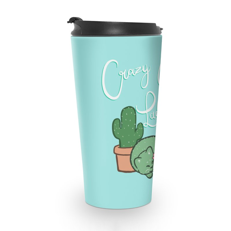 Crazy Cactus Lasy Accessories Travel Mug by AnimeGravy
