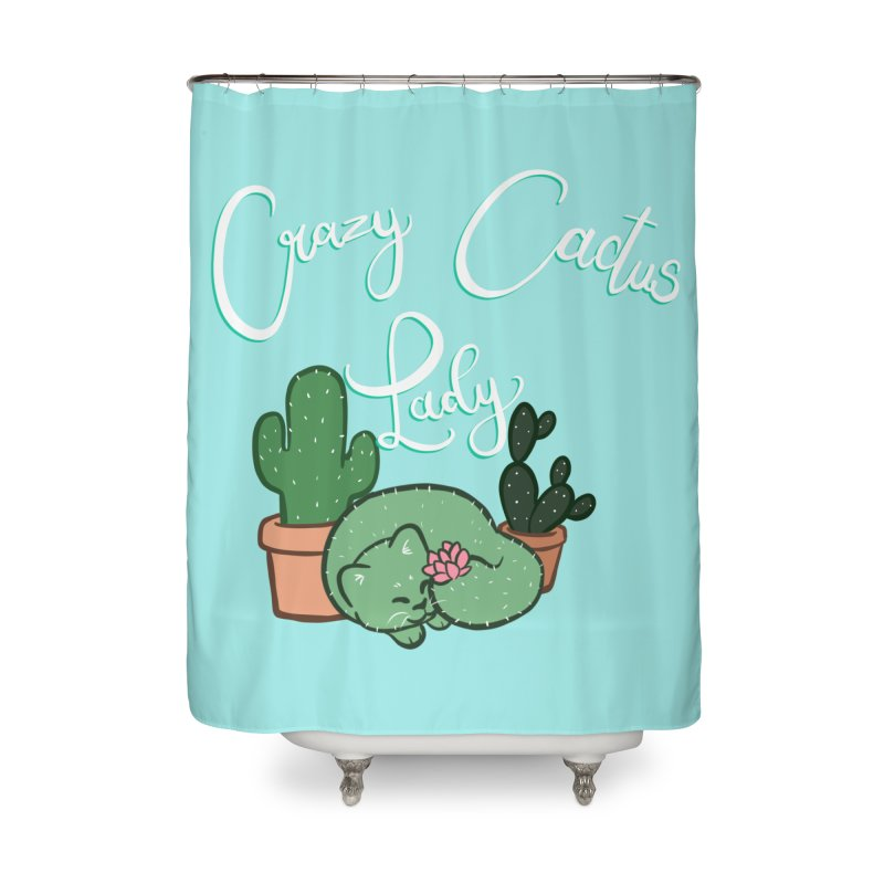 Crazy Cactus Lasy Home Shower Curtain by AnimeGravy