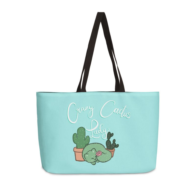 Crazy Cactus Lasy Accessories Weekender Bag Bag by AnimeGravy