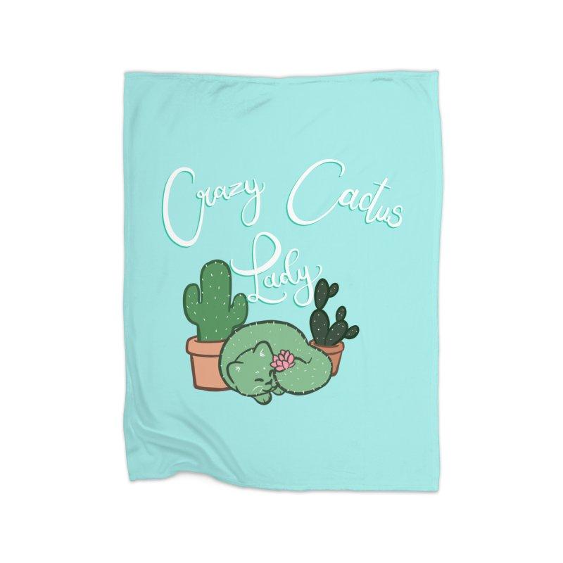 Crazy Cactus Lasy Home Fleece Blanket Blanket by AnimeGravy