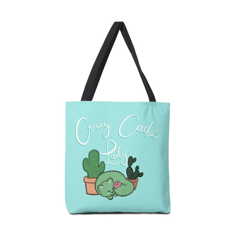 Crazy Cactus Lasy Accessories Tote Bag Bag by AnimeGravy