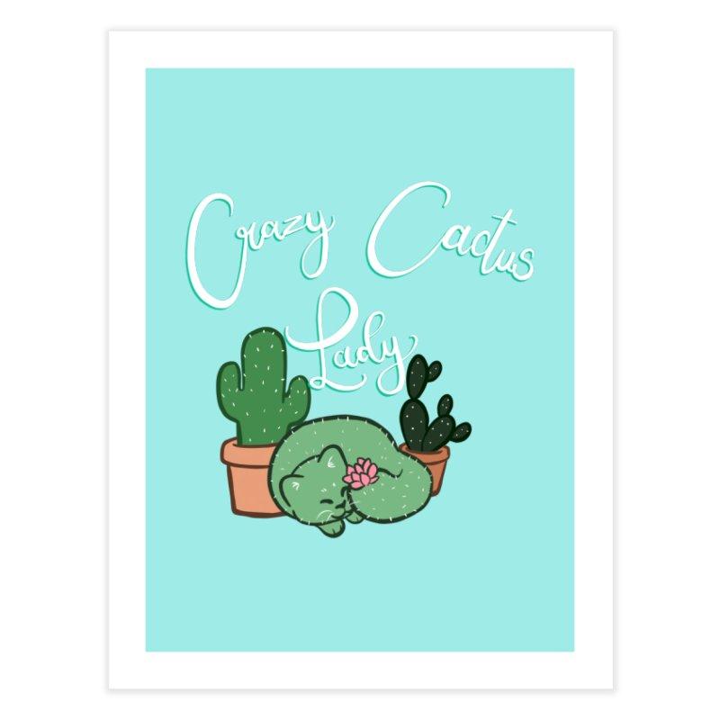Crazy Cactus Lasy Home Fine Art Print by AnimeGravy