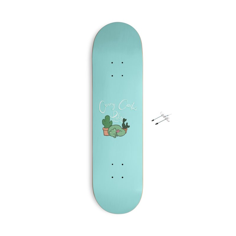 Crazy Cactus Lasy Accessories With Hanging Hardware Skateboard by AnimeGravy