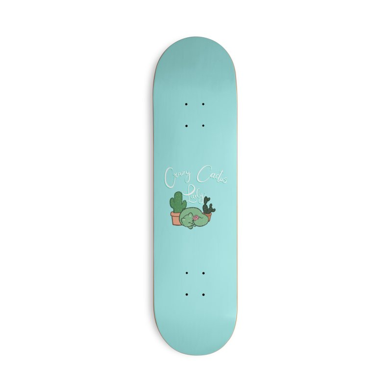 Crazy Cactus Lasy Accessories Deck Only Skateboard by AnimeGravy