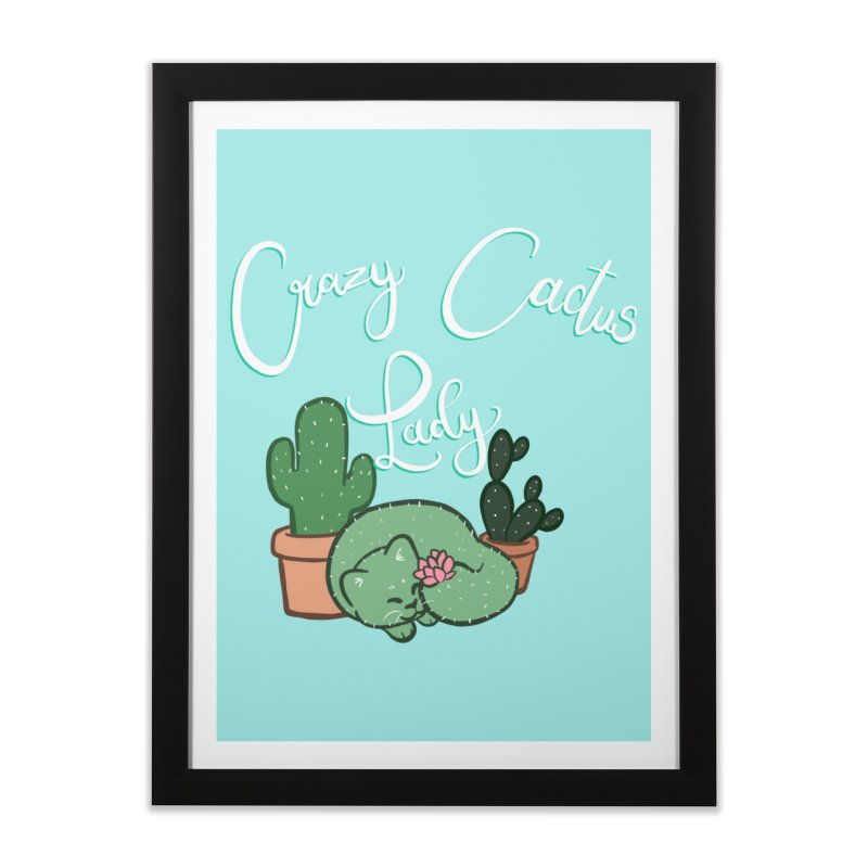 Crazy Cactus Lasy Home Framed Fine Art Print by AnimeGravy