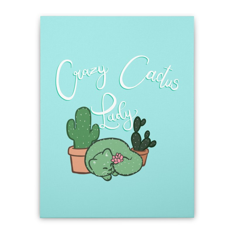 Crazy Cactus Lasy Home Stretched Canvas by AnimeGravy