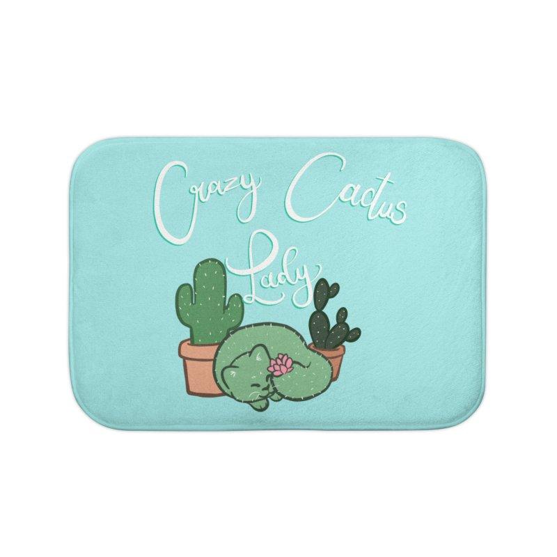 Crazy Cactus Lasy Home Bath Mat by AnimeGravy