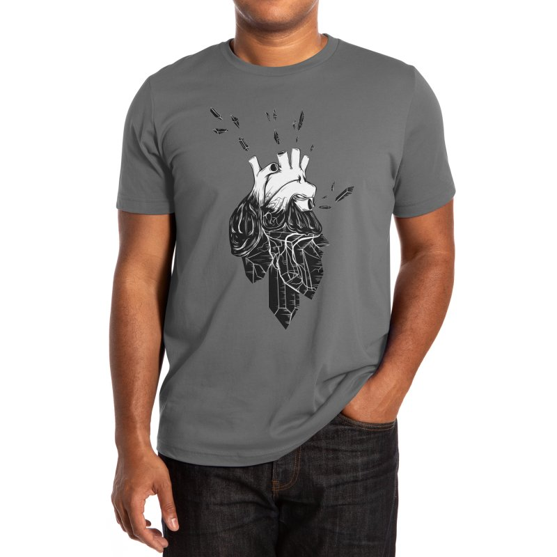 Crystal Heart Men's T-Shirt by Anna Lisa Illustration