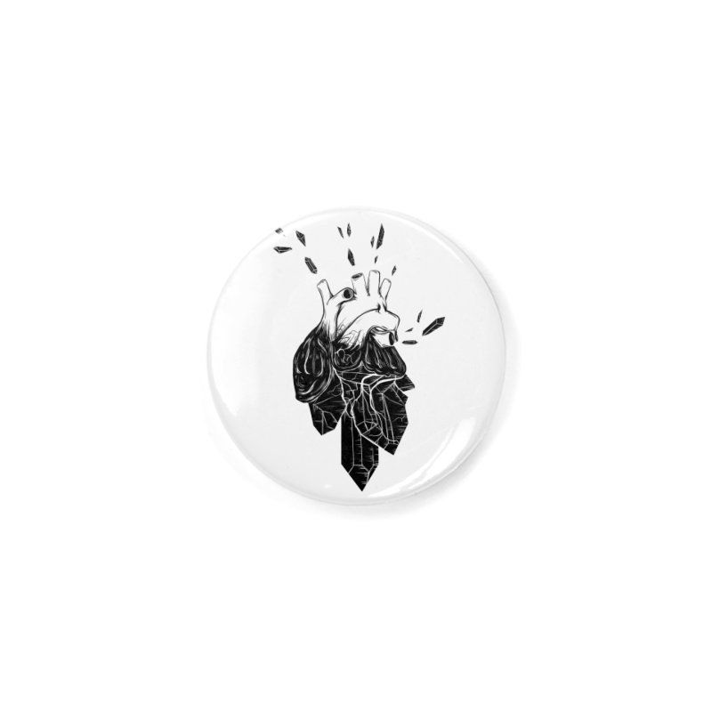 Crystal Heart Accessories Button by Anna Lisa Illustration