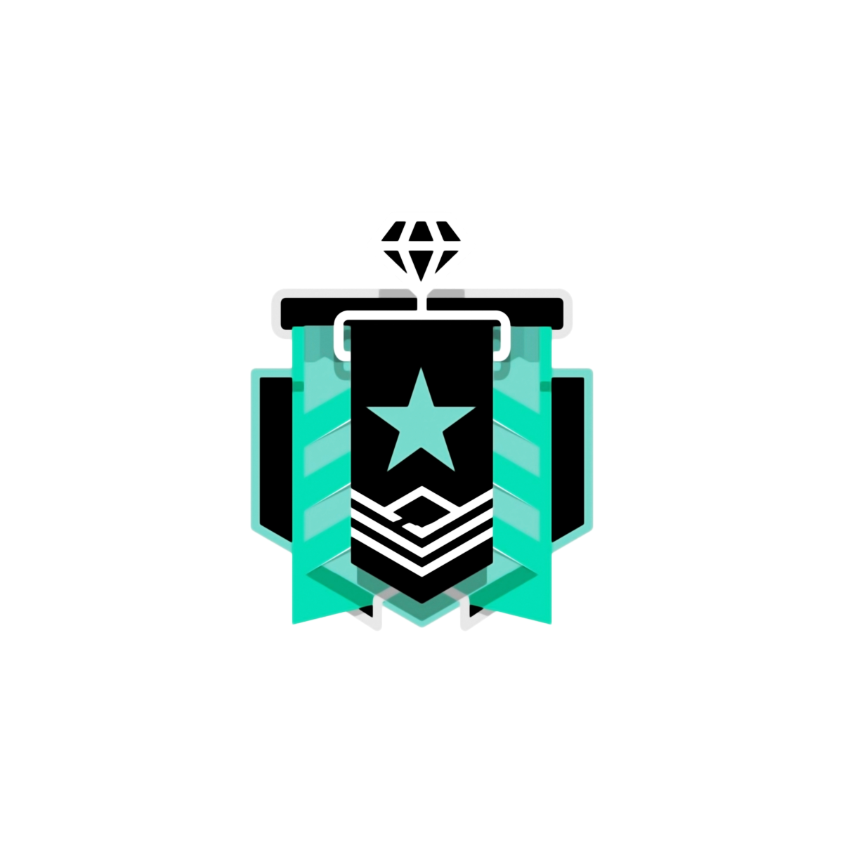 Rainbow Six Siege (Diamond Rank Logo)