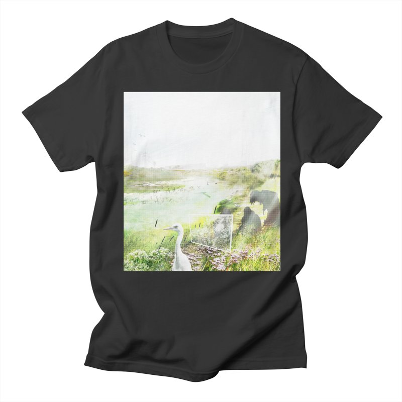 LONDON LEA VALLEY - BIRD SANCTUARY RESTORED Men's Regular T-Shirt by ANTHROPOLESLEY