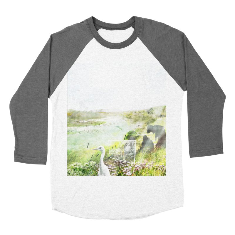LONDON LEA VALLEY - BIRD SANCTUARY RESTORED Men's Baseball Triblend Longsleeve T-Shirt by ANTHROPOLESLEY