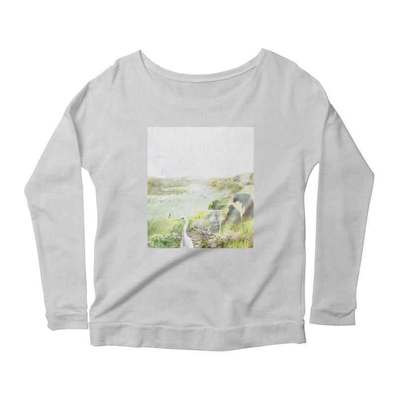 LONDON LEA VALLEY - BIRD SANCTUARY RESTORED Women's Scoop Neck Longsleeve T-Shirt by ANTHROPOLESLEY