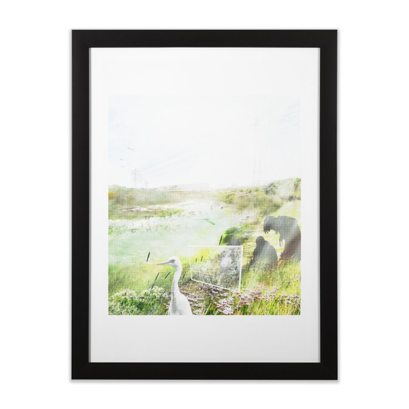 LONDON LEA VALLEY - BIRD SANCTUARY RESTORED Home Framed Fine Art Print by ANTHROPOLESLEY