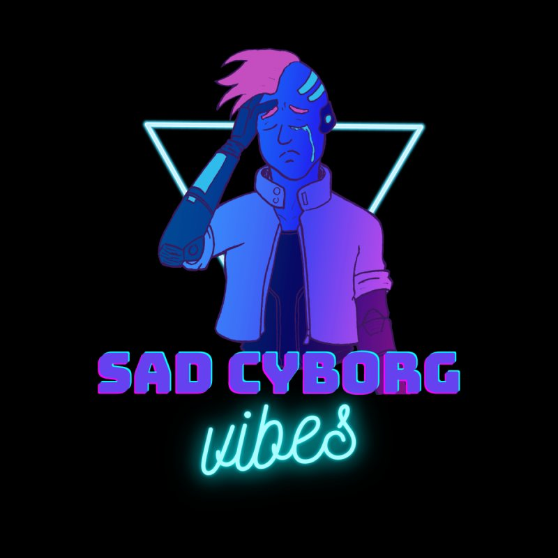 Sad Cyborg Vibes Home Throw Pillow by Sketchworks by Antonio Tyler