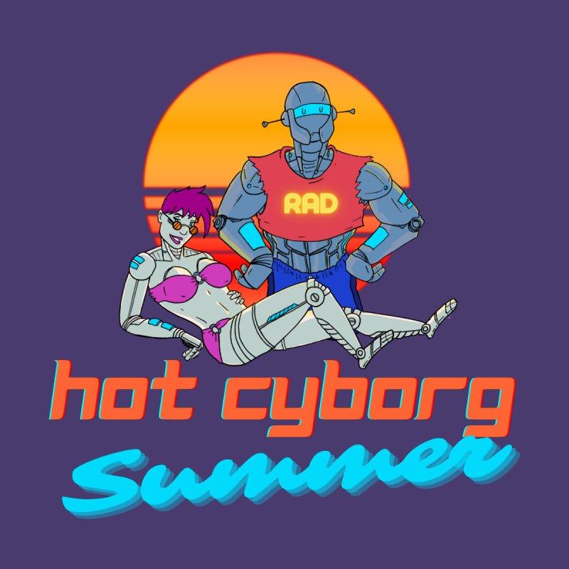 Hot Cyborg Summer Men's T-Shirt by Sketchworks by Antonio Tyler
