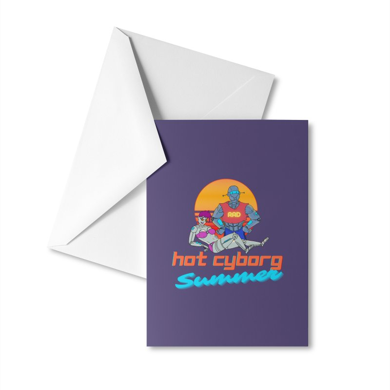 Hot Cyborg Summer Accessories Greeting Card by Sketchworks by Antonio Tyler