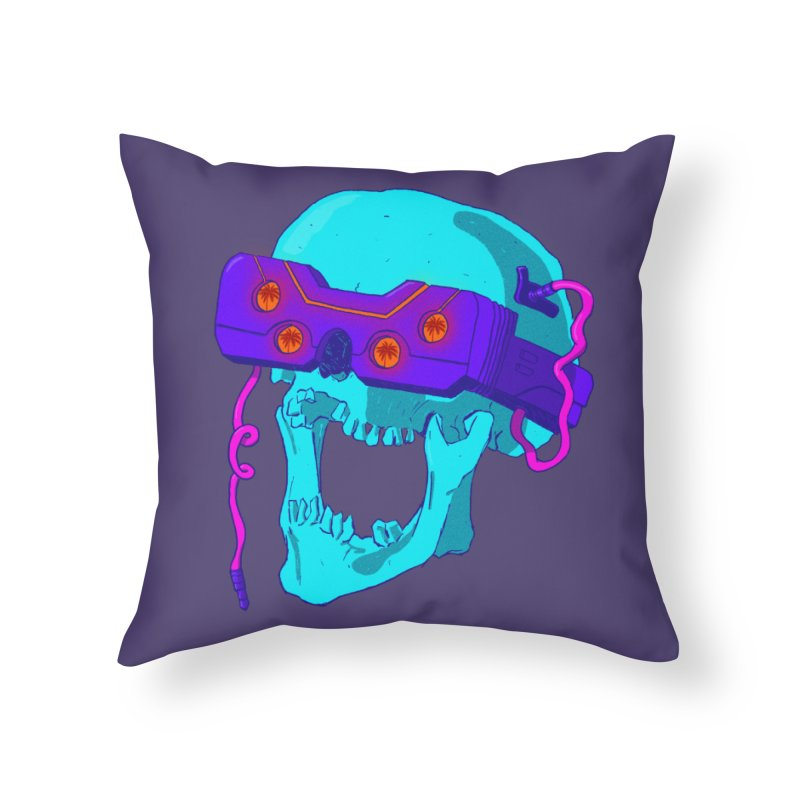 Always Online Home Throw Pillow by Sketchworks by Antonio Tyler