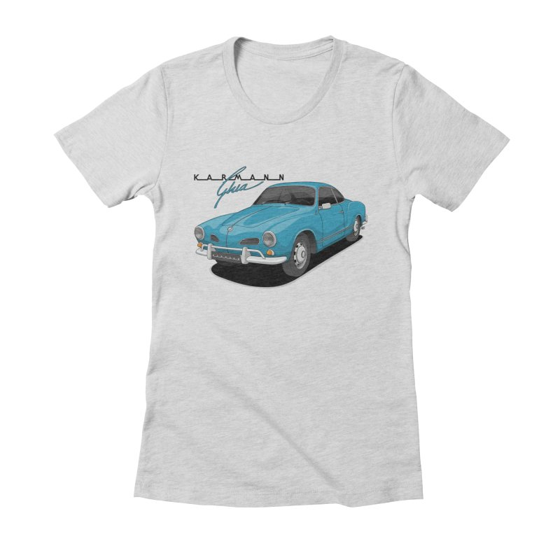 Karmann Ghia Women's Fitted T-Shirt by Apparel By AB