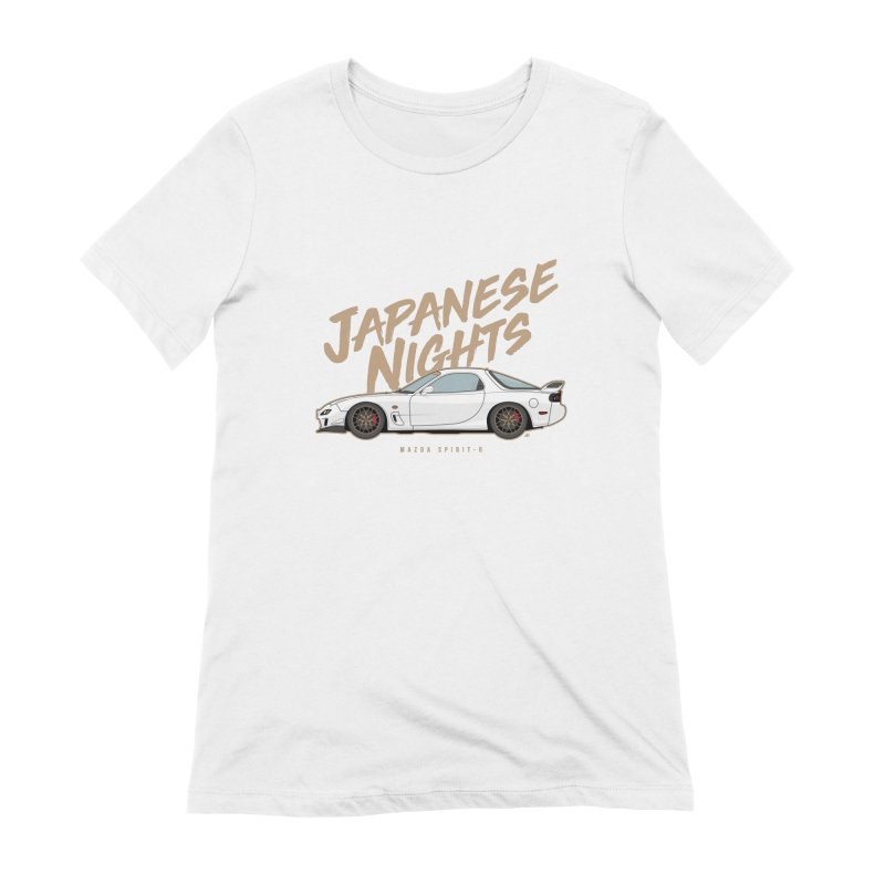 Japanese Nights RX7 Women's Extra Soft T-Shirt by Apparel By AB