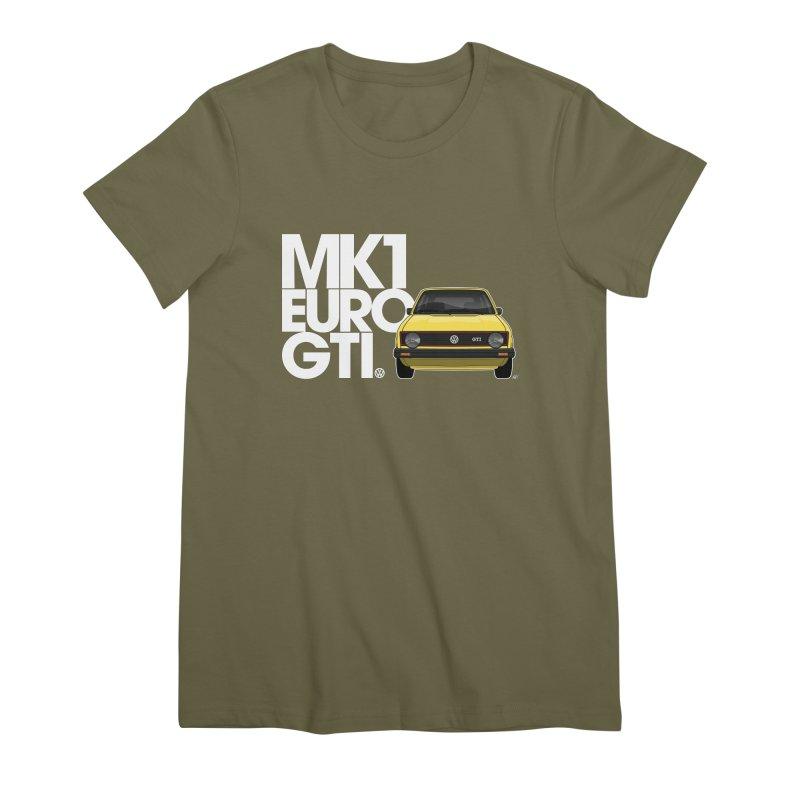 VW MK1 Euro GTI Women's Premium T-Shirt by Apparel By AB
