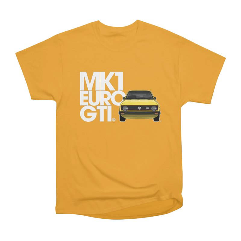 VW MK1 Euro GTI Men's Heavyweight T-Shirt by Apparel By AB