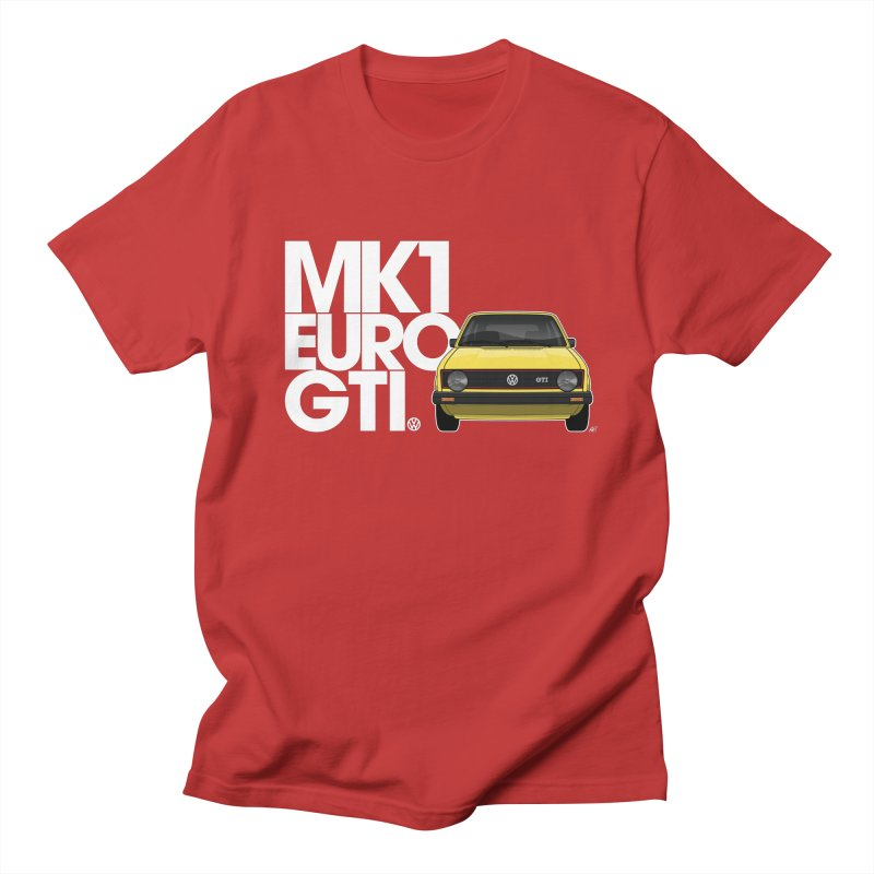 VW MK1 Euro GTI Men's Regular T-Shirt by Apparel By AB