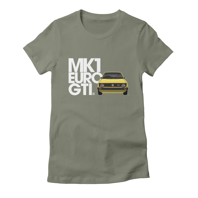 VW MK1 Euro GTI Women's Fitted T-Shirt by Apparel By AB