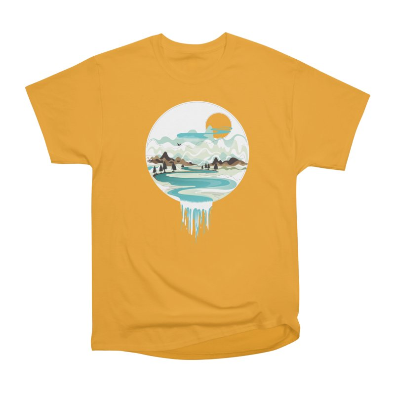Nature Flows Men's Heavyweight T-Shirt by Apparel By AB