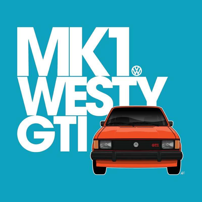 Golf GTI MK1 Westy Men's Zip-Up Hoody by Apparel By AB