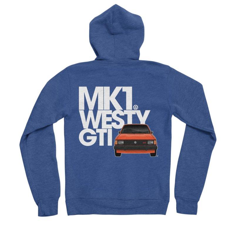 Golf GTI MK1 Westy Men's Zip-Up Hoody by Apparel By AB
