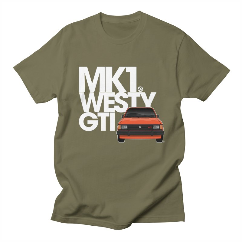 Golf GTI MK1 Westy Men's Regular T-Shirt by Apparel By AB