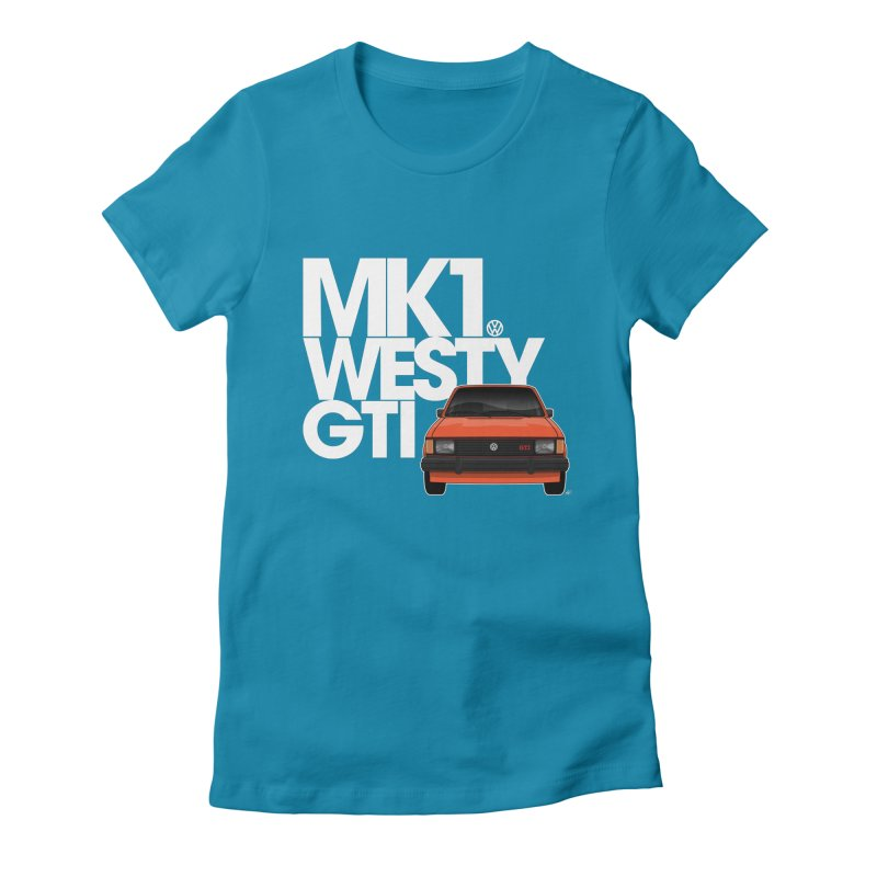 Golf GTI MK1 Westy Women's Fitted T-Shirt by Apparel By AB