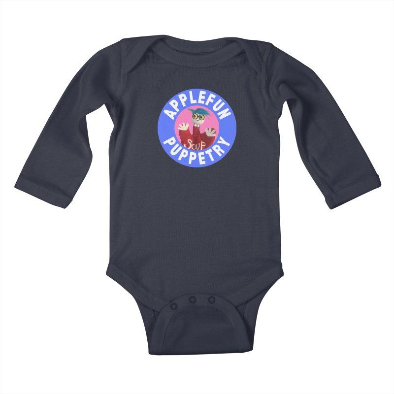 Applefun Puppetry - Andy Kids Baby Longsleeve Bodysuit by Applefun's Artist Shop