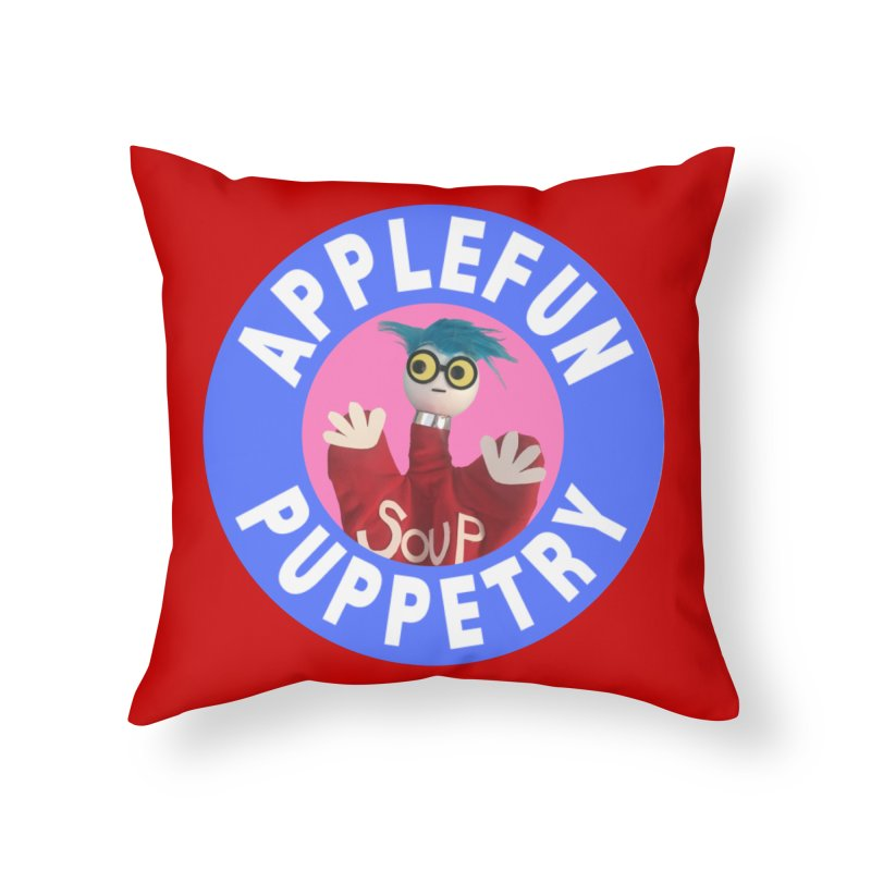 Applefun Puppetry - Andy Home Throw Pillow by Applefun's Artist Shop