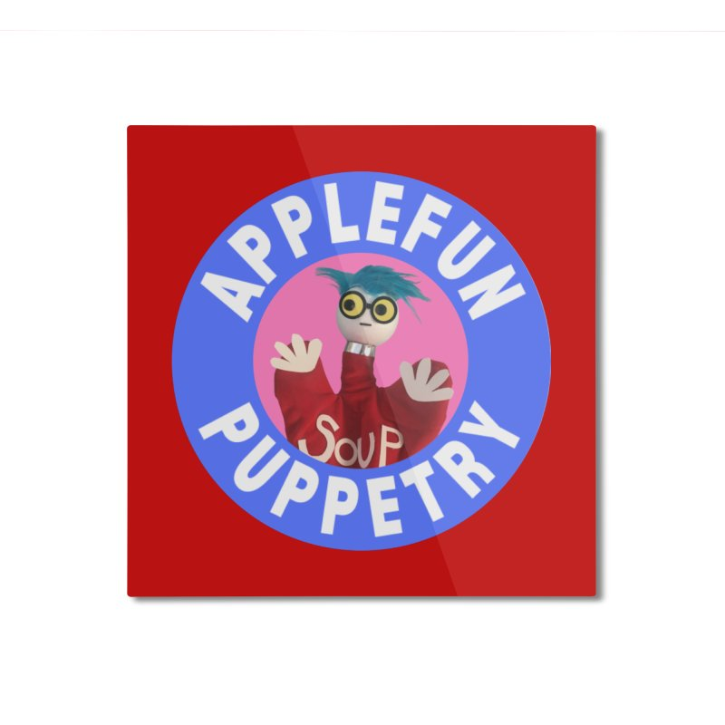 Applefun Puppetry - Andy Home Mounted Aluminum Print by Applefun's Artist Shop