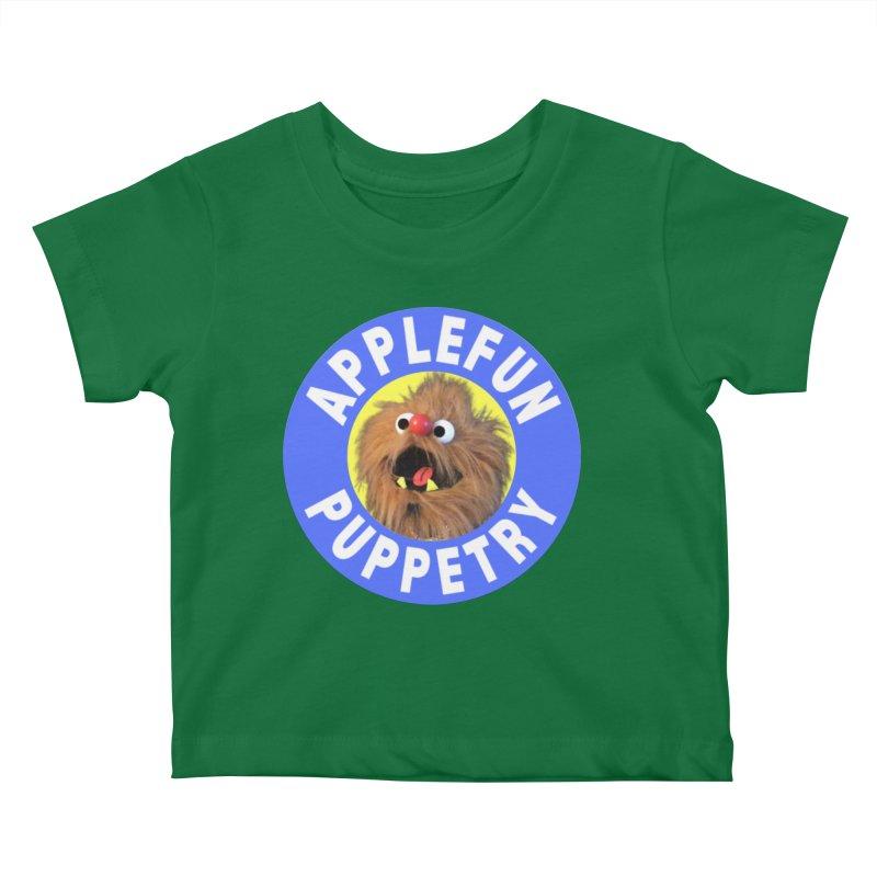 Applefun Puppetry - Moondog Kids Baby T-Shirt by Applefun's Artist Shop