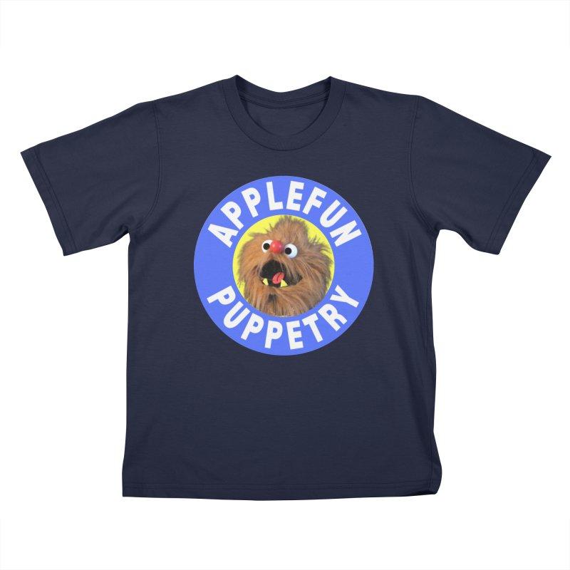 Applefun Puppetry - Moondog Kids T-Shirt by Applefun's Artist Shop