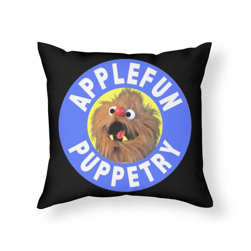 Applefun Puppetry - Moondog Home Throw Pillow by Applefun's Artist Shop
