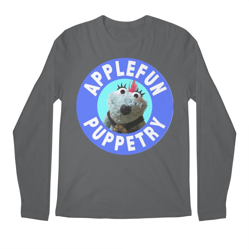 Applefun Puppetry - Doctor Bluecheese the Time Traveling Barbarian Men's Longsleeve T-Shirt by Applefun's Artist Shop