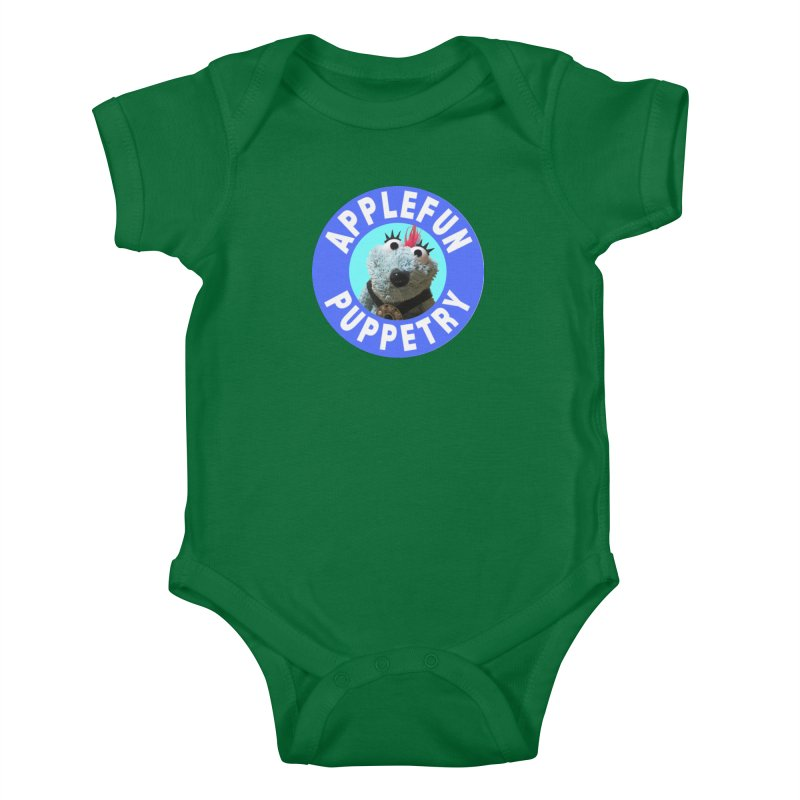 Applefun Puppetry - Doctor Bluecheese the Time Traveling Barbarian Kids Baby Bodysuit by Applefun's Artist Shop