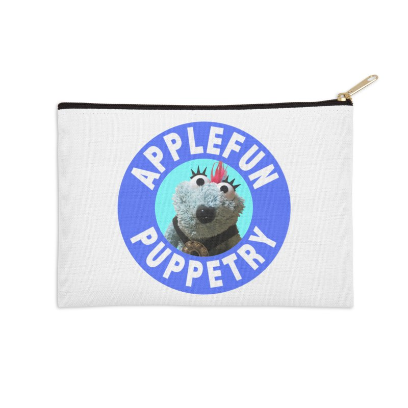 Applefun Puppetry - Doctor Bluecheese the Time Traveling Barbarian Accessories Zip Pouch by Applefun's Artist Shop