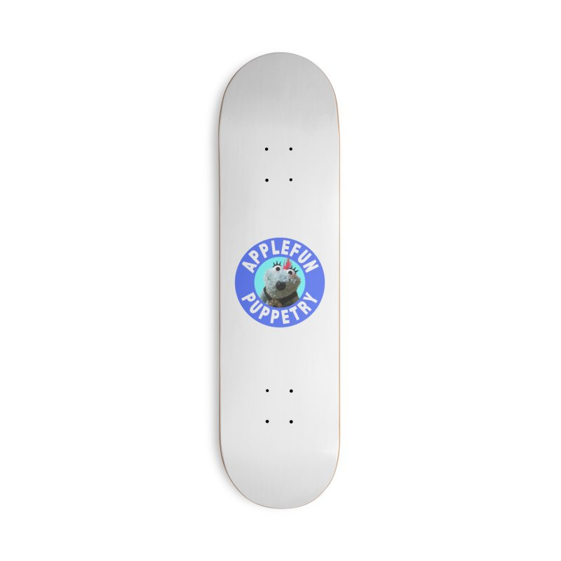 Applefun Puppetry - Doctor Bluecheese the Time Traveling Barbarian Accessories Skateboard by Applefun's Artist Shop