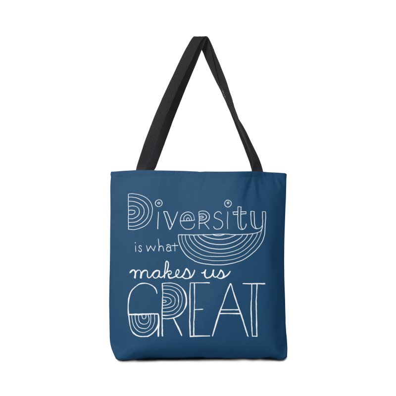Diversity Makes Us Great - White Accessories Bag by April Marie Mai's Shop