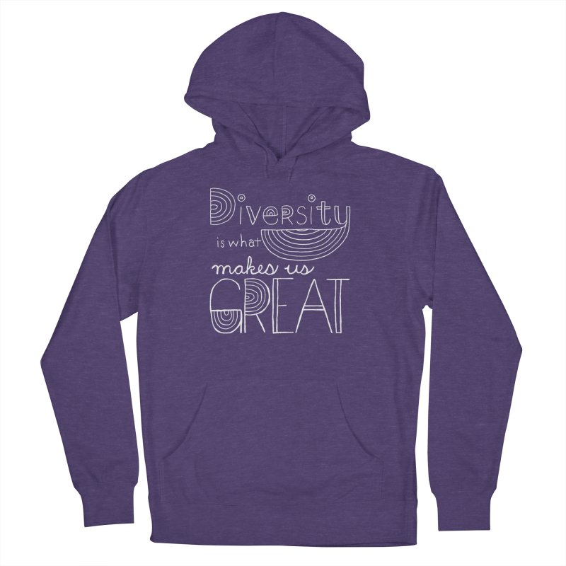 Diversity Makes Us Great - White Women's Pullover Hoody by April Marie Mai's Shop
